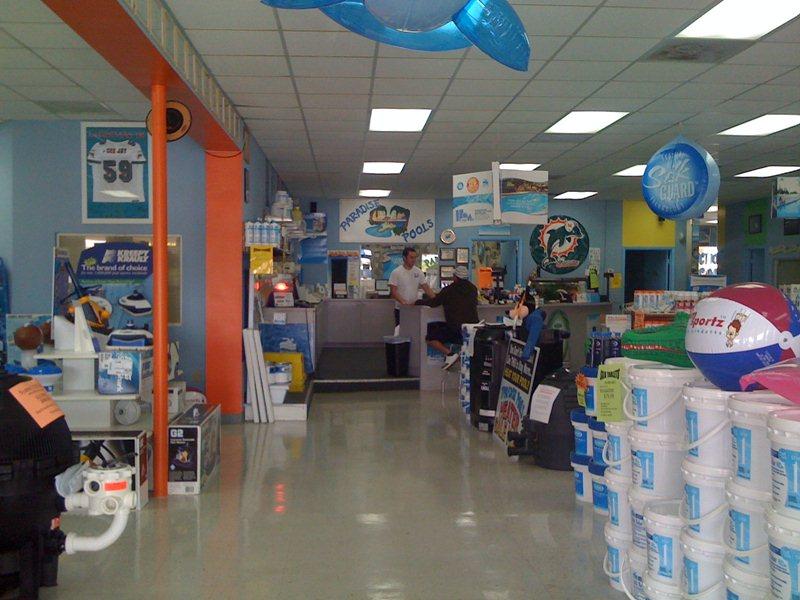 Retail Store Paradise Pools Retail